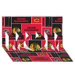 Chicago Blackhawks Nhl Block Fleece Fabric MOM 3D Greeting Card (8x4)
