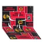 Chicago Blackhawks Nhl Block Fleece Fabric Clover 3D Greeting Card (7x5)