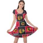 Chicago Blackhawks Nhl Block Fleece Fabric Cap Sleeve Dresses