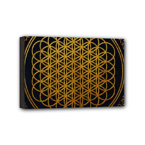 Bring Me The Horizon Cover Album Gold Mini Canvas 6  X 4  by Onesevenart