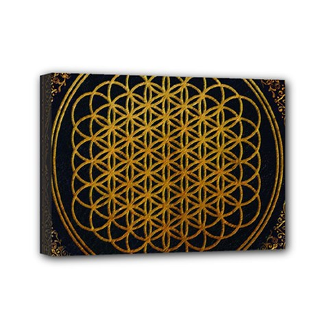 Bring Me The Horizon Cover Album Gold Mini Canvas 7  X 5  by Onesevenart