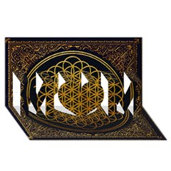 Bring Me The Horizon Cover Album Gold Mom 3d Greeting Card (8x4) by Onesevenart