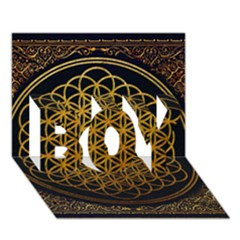 Bring Me The Horizon Cover Album Gold Boy 3d Greeting Card (7x5) by Onesevenart