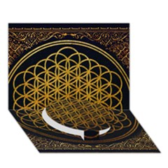 Bring Me The Horizon Cover Album Gold Circle Bottom 3d Greeting Card (7x5) by Onesevenart