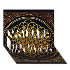 Bring Me The Horizon Cover Album Gold You Are Invited 3d Greeting Card (7x5) by Onesevenart