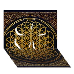 Bring Me The Horizon Cover Album Gold Clover 3d Greeting Card (7x5) by Onesevenart