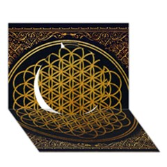 Bring Me The Horizon Cover Album Gold Circle 3d Greeting Card (7x5) by Onesevenart