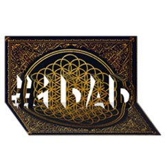 Bring Me The Horizon Cover Album Gold #1 Dad 3d Greeting Card (8x4) by Onesevenart