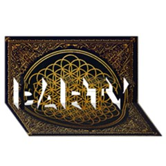 Bring Me The Horizon Cover Album Gold Party 3d Greeting Card (8x4) by Onesevenart