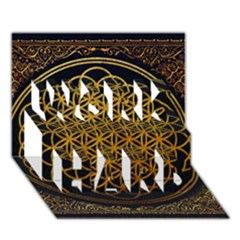 Bring Me The Horizon Cover Album Gold Work Hard 3d Greeting Card (7x5) by Onesevenart