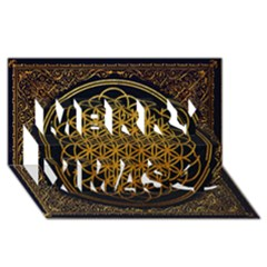 Bring Me The Horizon Cover Album Gold Merry Xmas 3d Greeting Card (8x4) by Onesevenart