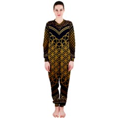 Bring Me The Horizon Cover Album Gold Onepiece Jumpsuit (ladies)  by Onesevenart
