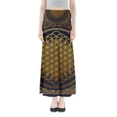 Bring Me The Horizon Cover Album Gold Maxi Skirts by Onesevenart