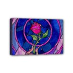 Enchanted Rose Stained Glass Mini Canvas 6  x 4