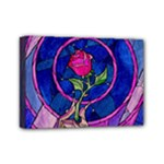 Enchanted Rose Stained Glass Mini Canvas 7  x 5