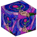 Enchanted Rose Stained Glass Storage Stool 12