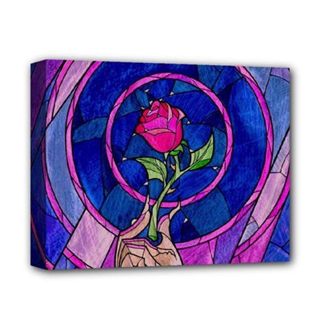 Enchanted Rose Stained Glass Deluxe Canvas 14  X 11  by Onesevenart