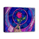 Enchanted Rose Stained Glass Deluxe Canvas 14  x 11