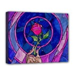 Enchanted Rose Stained Glass Deluxe Canvas 20  x 16