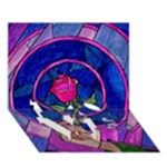 Enchanted Rose Stained Glass LOVE Bottom 3D Greeting Card (7x5)