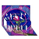 Enchanted Rose Stained Glass Get Well 3D Greeting Card (7x5)