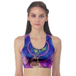 Enchanted Rose Stained Glass Sports Bra