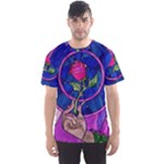 Enchanted Rose Stained Glass Men s Sport Mesh Tee