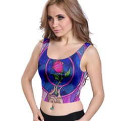 Enchanted Rose Stained Glass Crop Top by Onesevenart