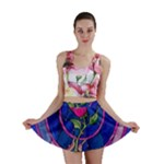 Enchanted Rose Stained Glass Mini Skirt