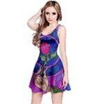 Enchanted Rose Stained Glass Reversible Sleeveless Dress
