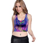 Enchanted Rose Stained Glass Racer Back Crop Top