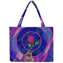 Enchanted Rose Stained Glass Mini Tote Bag by Onesevenart