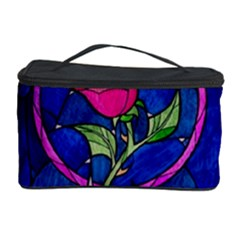 Enchanted Rose Stained Glass Cosmetic Storage Case by Onesevenart