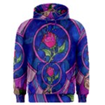 Enchanted Rose Stained Glass Men s Pullover Hoodie