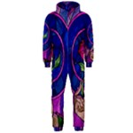 Enchanted Rose Stained Glass Hooded Jumpsuit (Men)