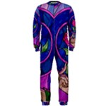 Enchanted Rose Stained Glass OnePiece Jumpsuit (Men)