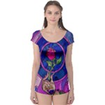 Enchanted Rose Stained Glass Boyleg Leotard