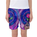 Enchanted Rose Stained Glass Women s Basketball Shorts
