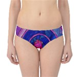 Enchanted Rose Stained Glass Hipster Bikini Bottoms