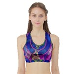 Enchanted Rose Stained Glass Sports Bra with Border