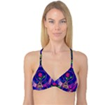 Enchanted Rose Stained Glass Reversible Tri Bikini Top