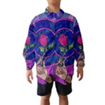 Enchanted Rose Stained Glass Wind Breaker (Kids)