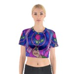 Enchanted Rose Stained Glass Cotton Crop Top