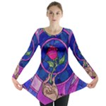 Enchanted Rose Stained Glass Long Sleeve Tunic