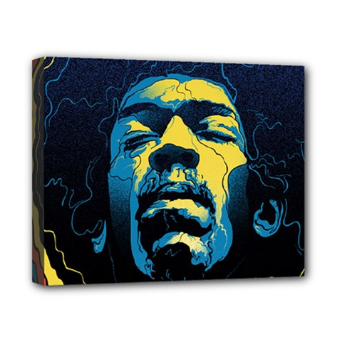 Gabz Jimi Hendrix Voodoo Child Poster Release From Dark Hall Mansion Canvas 10  X 8  by Onesevenart