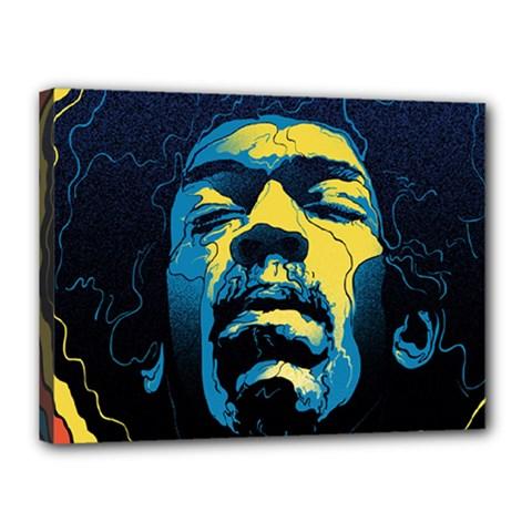Gabz Jimi Hendrix Voodoo Child Poster Release From Dark Hall Mansion Canvas 16  X 12  by Onesevenart