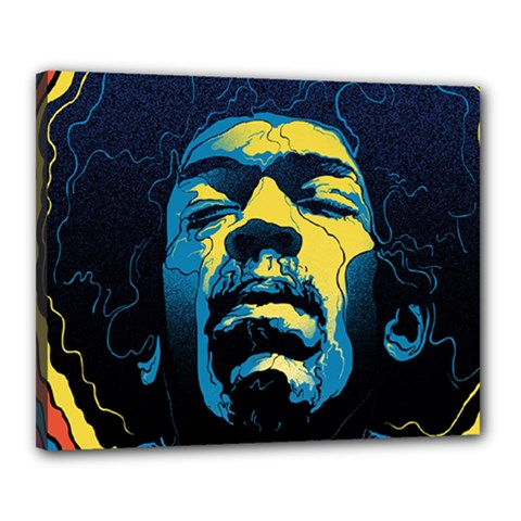 Gabz Jimi Hendrix Voodoo Child Poster Release From Dark Hall Mansion Canvas 20  X 16  by Onesevenart