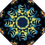 Gabz Jimi Hendrix Voodoo Child Poster Release From Dark Hall Mansion Folding Umbrellas