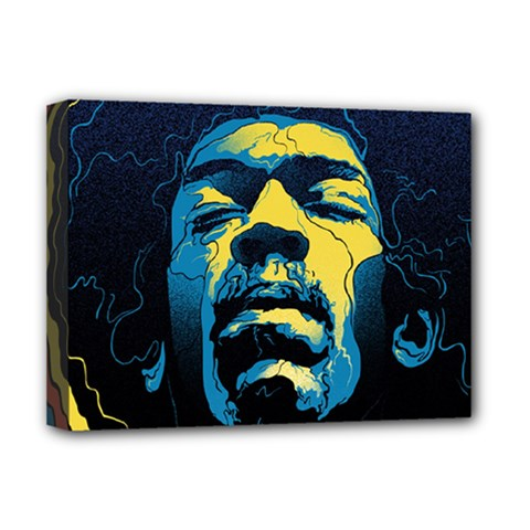 Gabz Jimi Hendrix Voodoo Child Poster Release From Dark Hall Mansion Deluxe Canvas 16  X 12   by Onesevenart