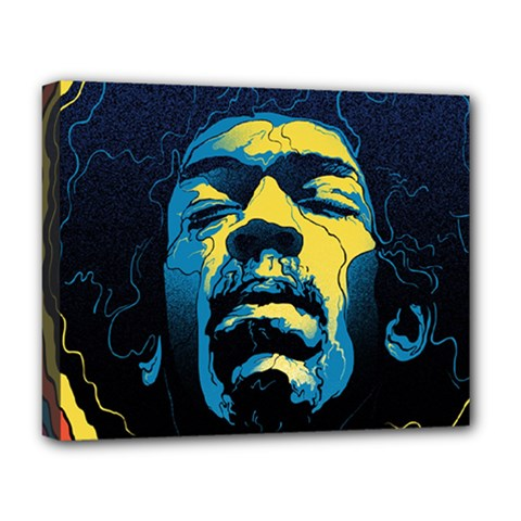 Gabz Jimi Hendrix Voodoo Child Poster Release From Dark Hall Mansion Deluxe Canvas 20  x 16   by Onesevenart